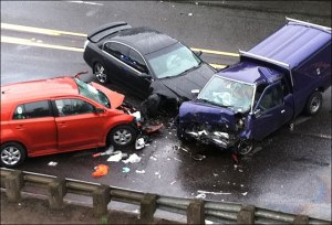 One person died in this three-car crash. (KATU News photo)