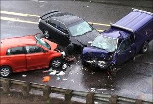 One person died in this three-car crash. (KATU News photo)